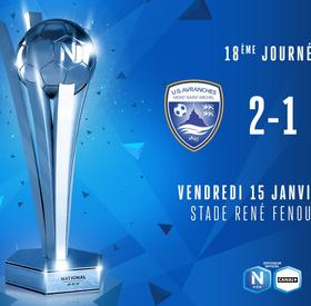 J18 | US Avranches MSM - Stade Lavallois (2-1)