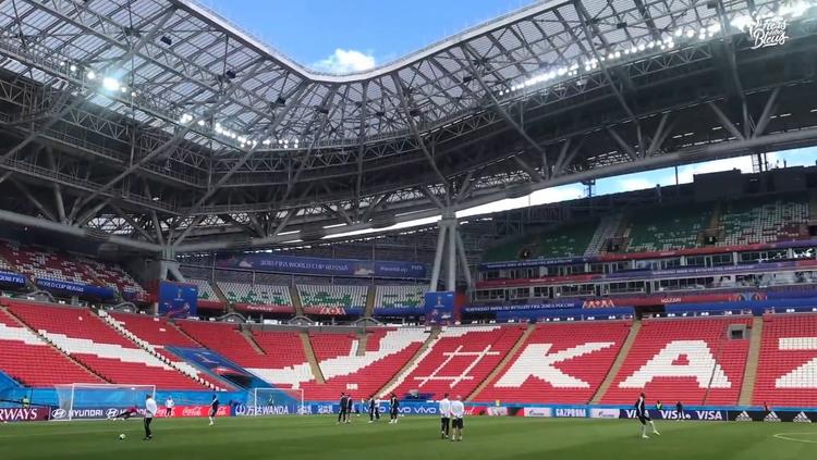 Les Bleus avant France-Australie à Kazan