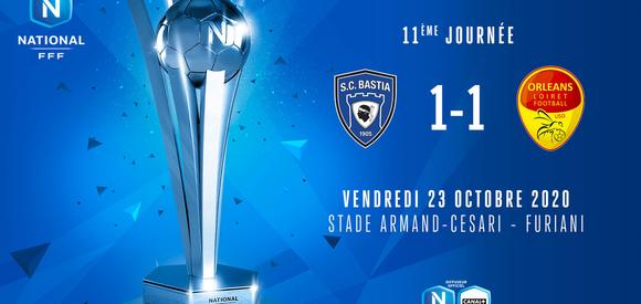 J11   SC Bastia - US Orléans (1-1)