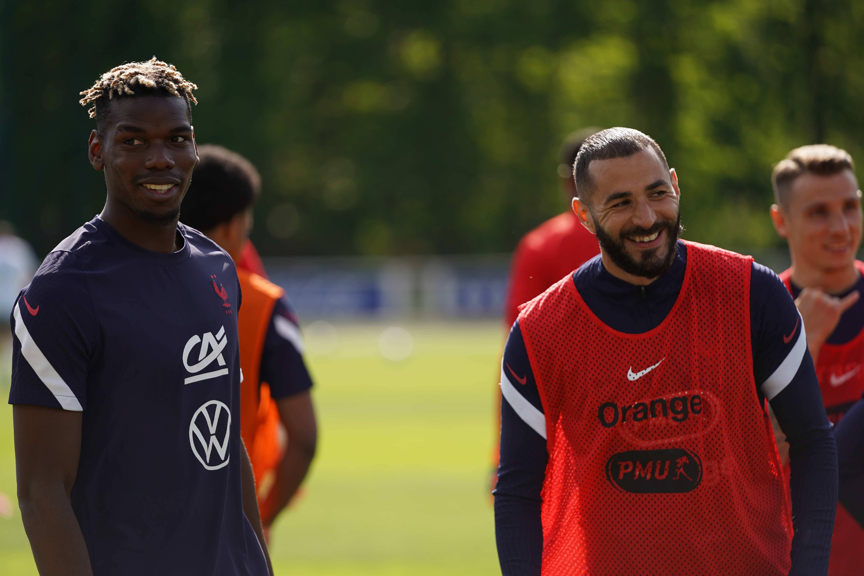 L'entraînement de l'équipe de France en direct de Clairefontaine