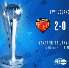 J17   Le Mans FC – SO Cholet (2-0)