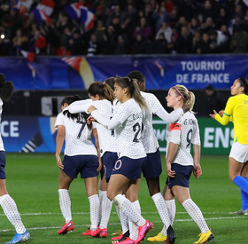Joie et réactions après France-Brésil (1-0)