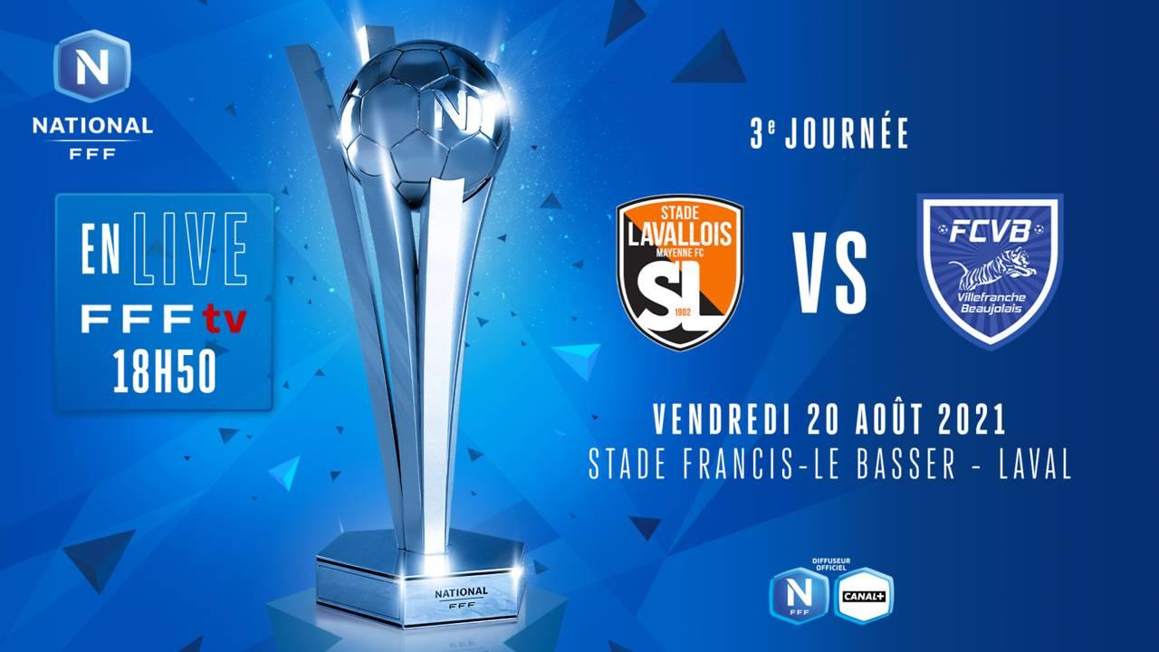 J3 I STADE LAVALLOIS - FC VILLEFRANCHE B. EN DIRECT (18H50)
