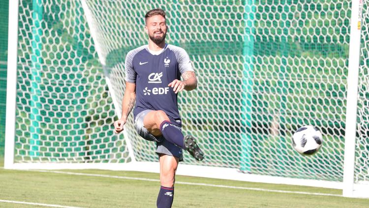 Dernier entraînement avant France-Argentine