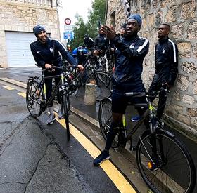 Sortie vélo pour les Bleus