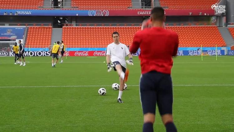 Dernier entraînement avant France-Pérou