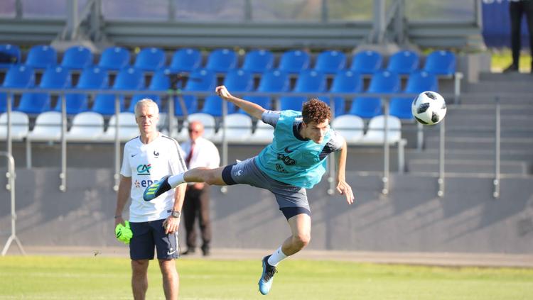 L'entraînement des Bleus à Istra