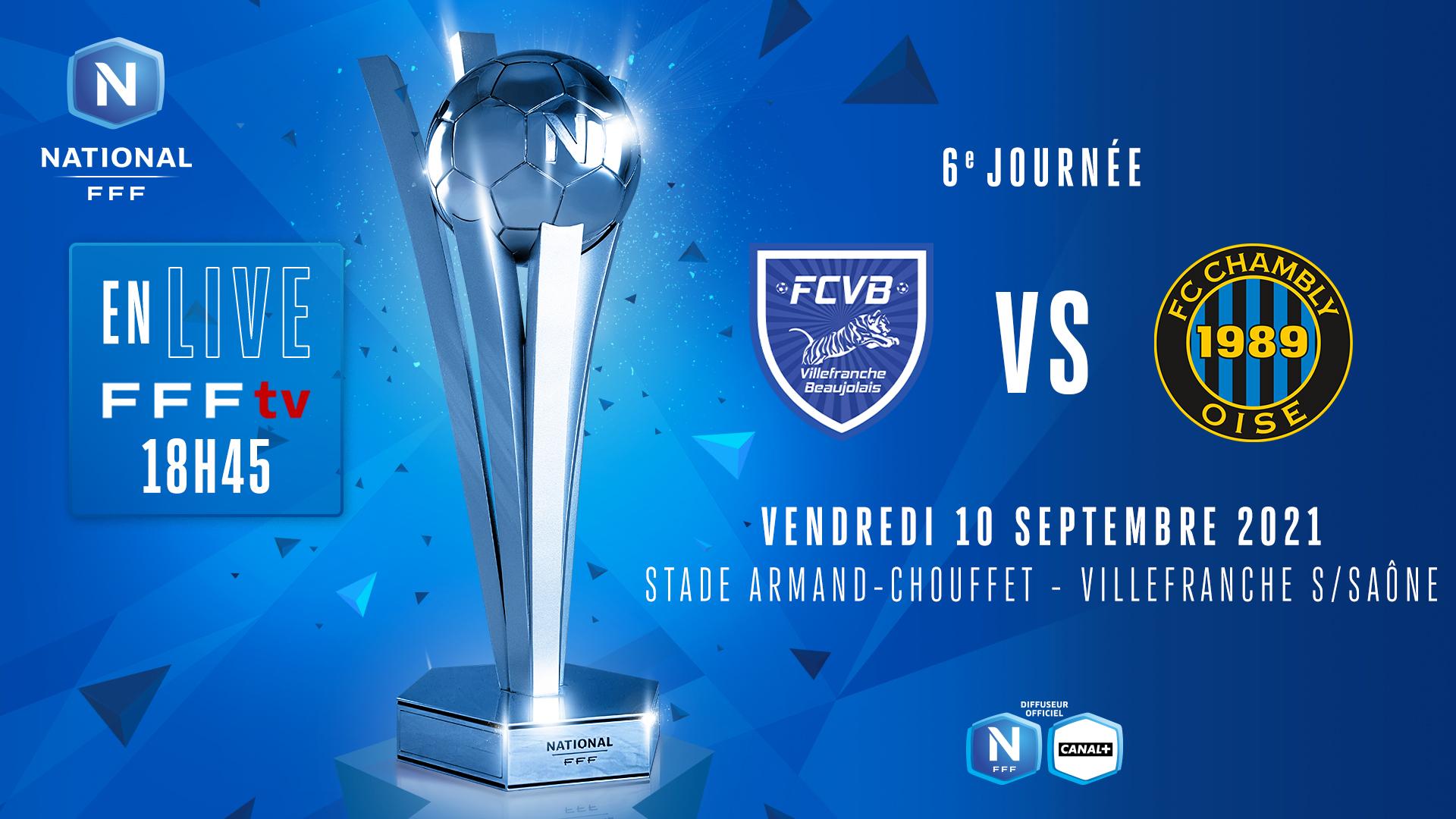 J6 : FC VILLEFRANCHE B. - FC CHAMBLY OISE EN DIRECT (18h45) !
