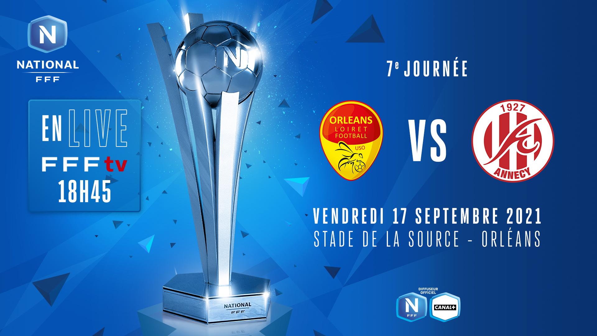 J7 I US ORLÉANS - FC ANNECY EN DIRECT (18H45) !
