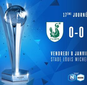 J17   FC Sète 34 - US Avranches MSM (0-0)