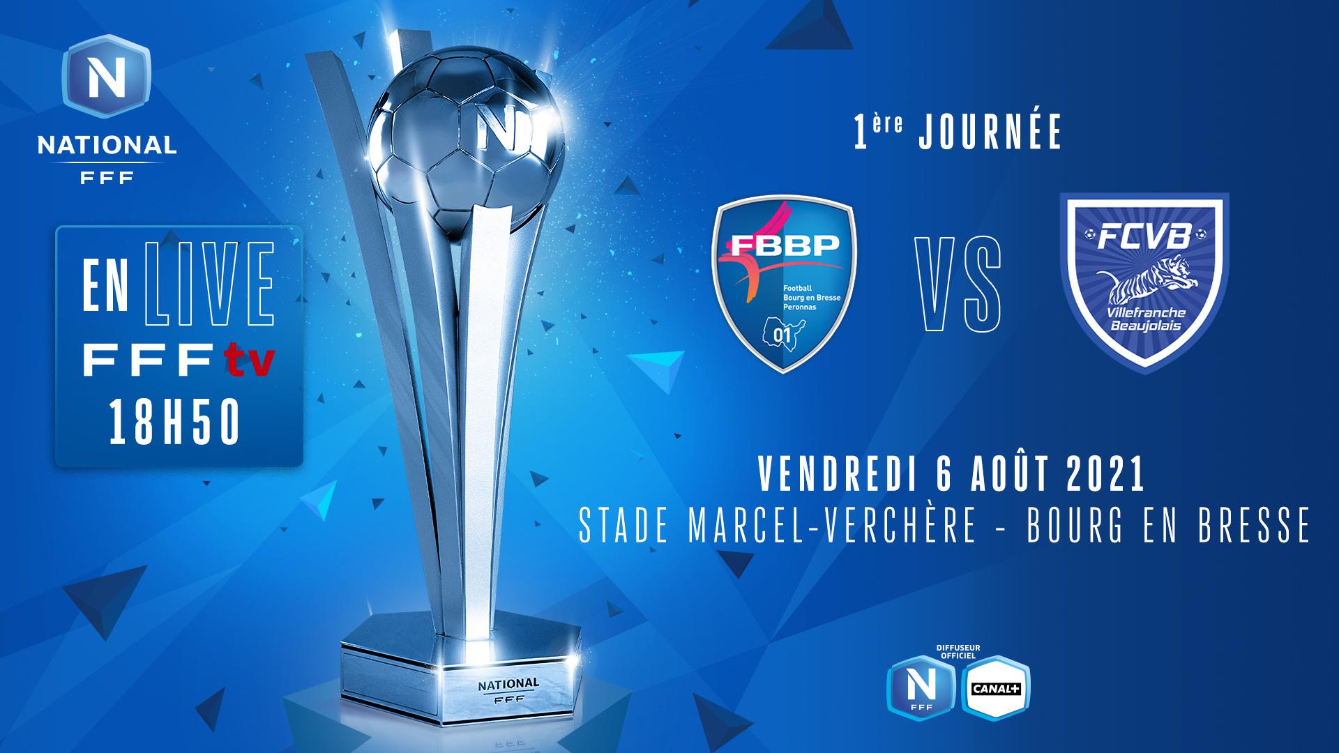 J1 | BOURG-PÉRONNAS 01 - FC VILLEFRANCHE B. EN DIRECT (18H50) !