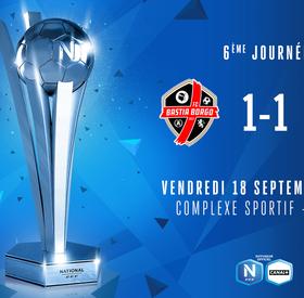 J6 | FC Bastia-Borgo - Le Mans FC (1-1)