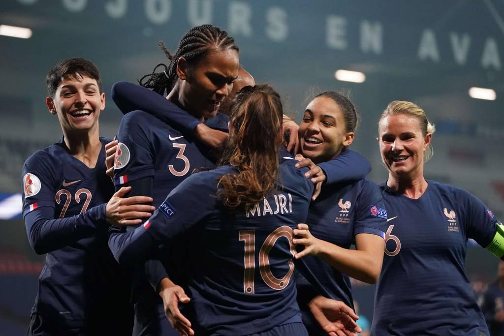 Equipe de France féminine France Autriche joie qualification Euro 2022