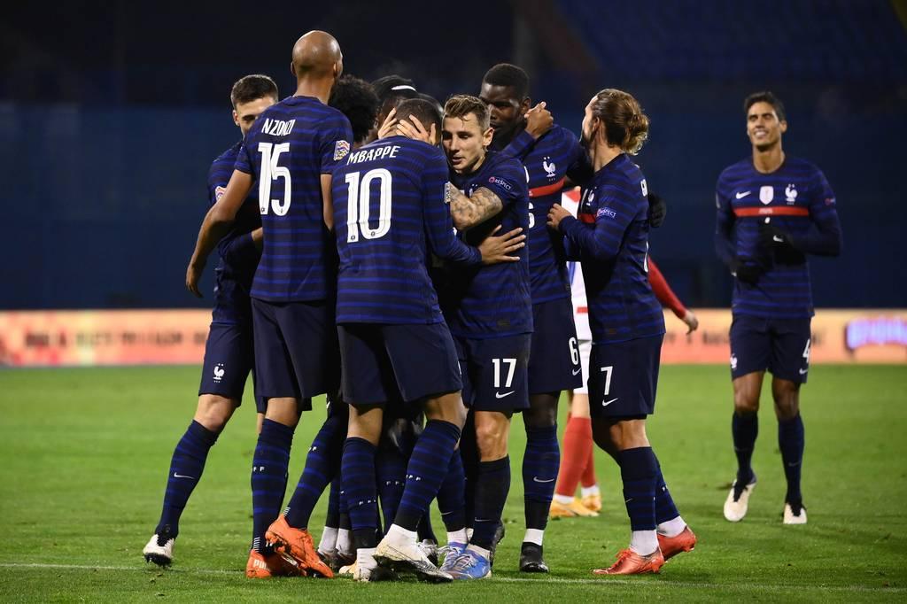 Equipe de France Bleus joie qualification Euro 2021