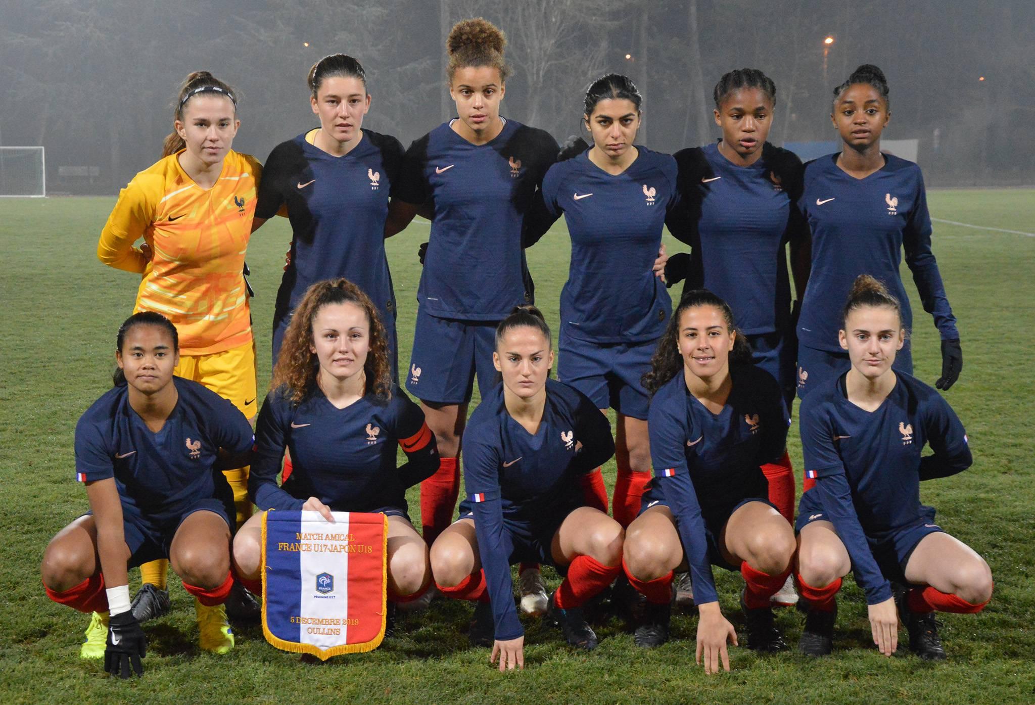 Equipe de France U17 féminine de départ en amical face au Japon, 5 décembre 2019