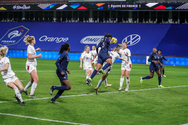 Wendie Renard tête but France-Suisse 23/02/2021