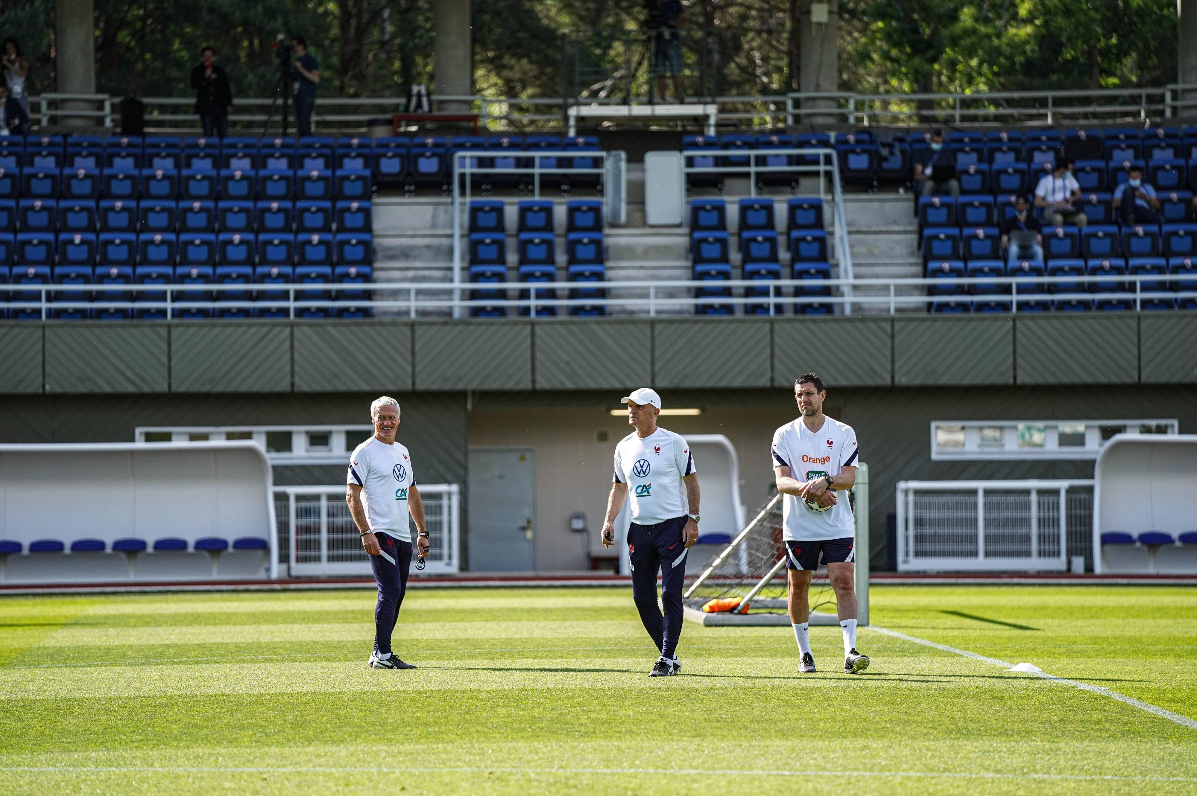 Didier Deschamps, Guy Stéphan et Franck Raviot