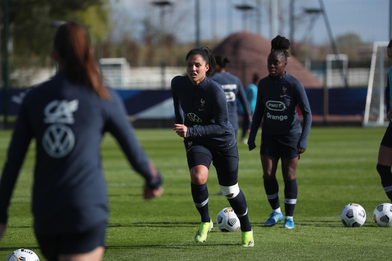 EDF féminine entraînement Valérie Gauvin