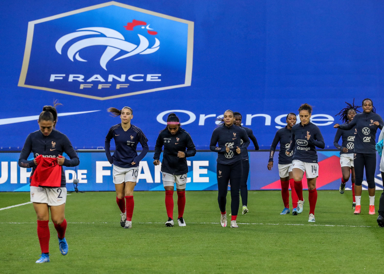 France-USA échauffement