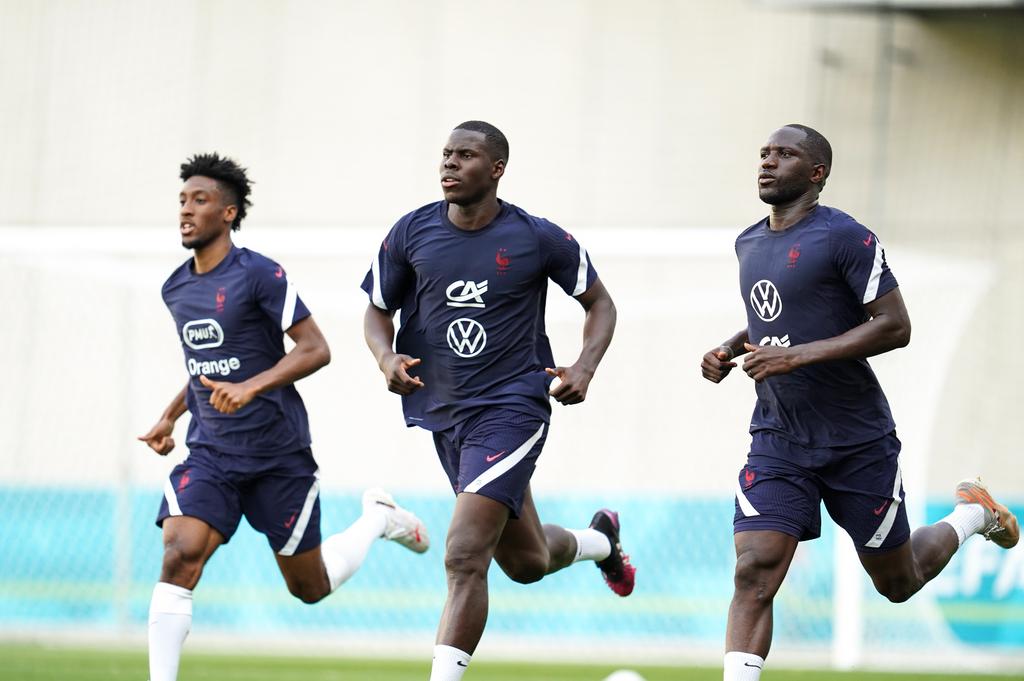 Kingsley Coman, Kurt Zouma et Moussa Sissoko