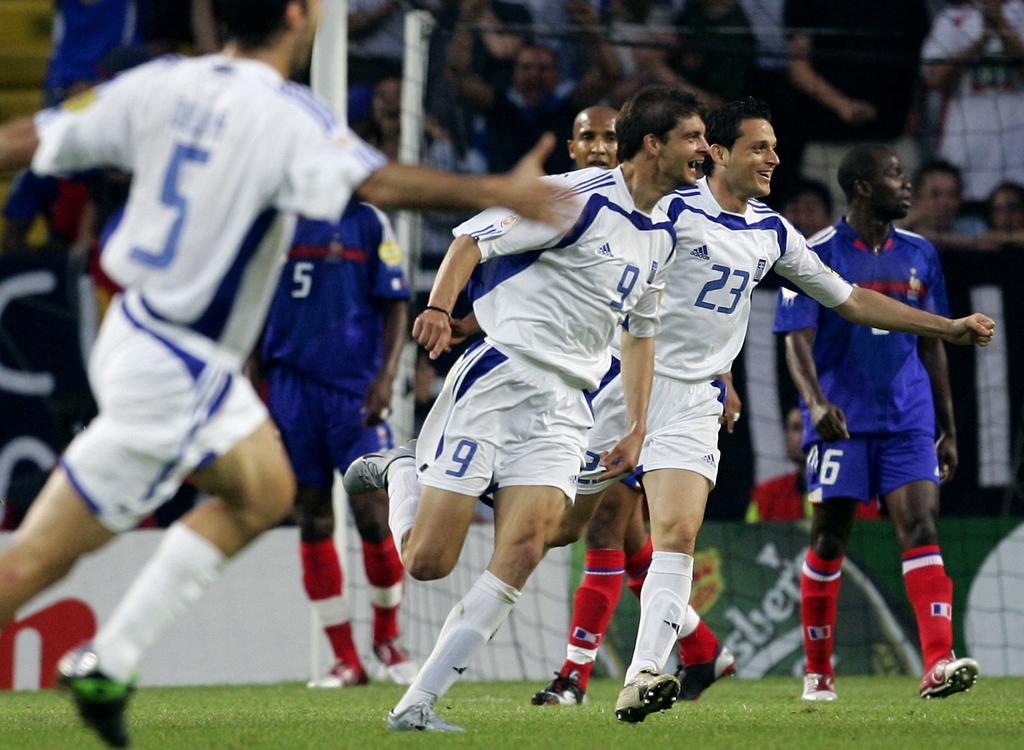 Frannce Grèce quart de finale Euro 2004