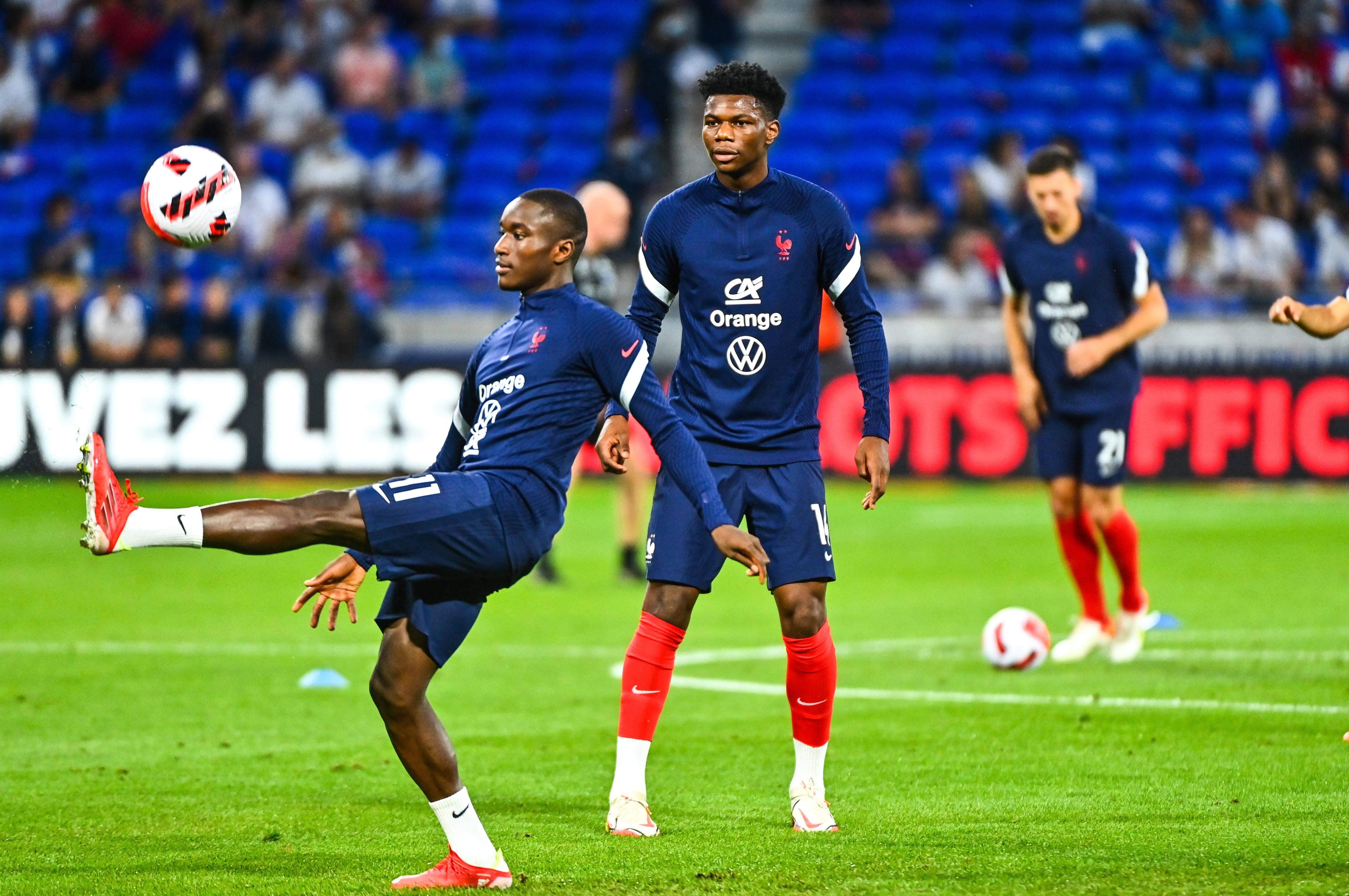Moussa Diaby et Aurélien Tchouameni