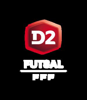 Logo D2 Futsal header mention blanche saison 2020-2021