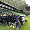 Sylvain Ripoll et les Espoirs veille de match Euro