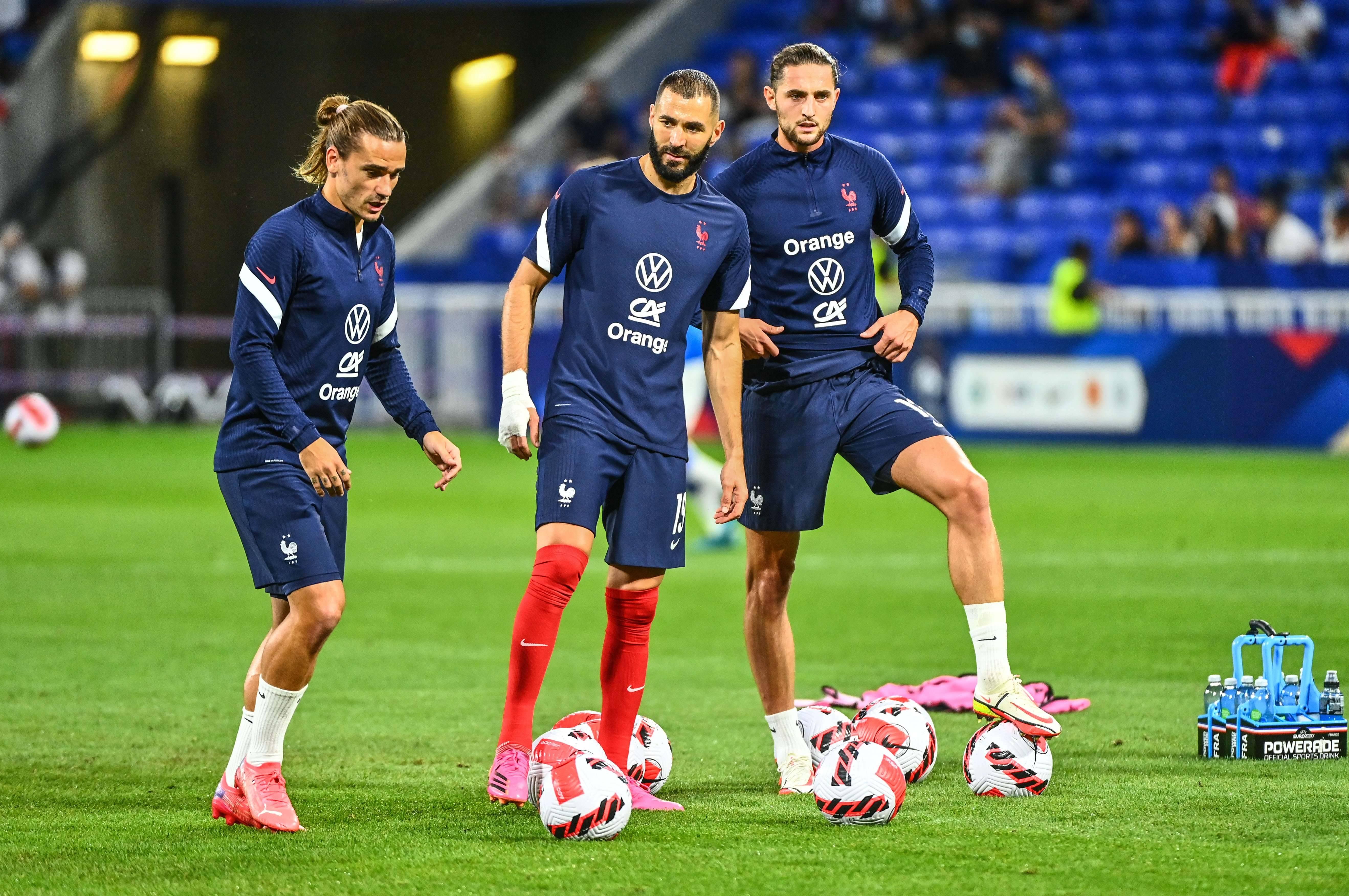 Antoine Griezmann, Karim Benzema et Adrien Rabiot