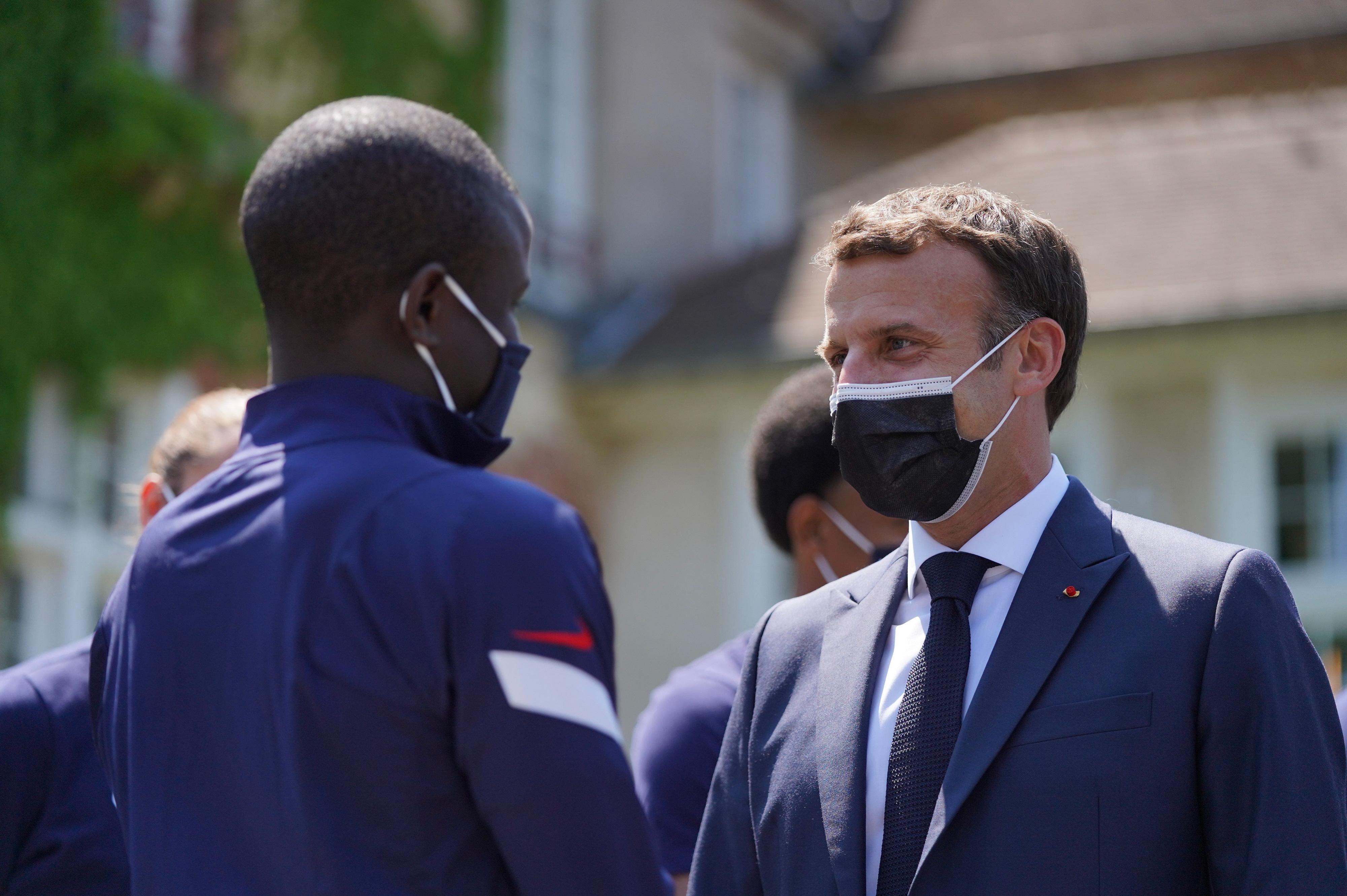 Emmanuel Macron et N'Golo Kanté