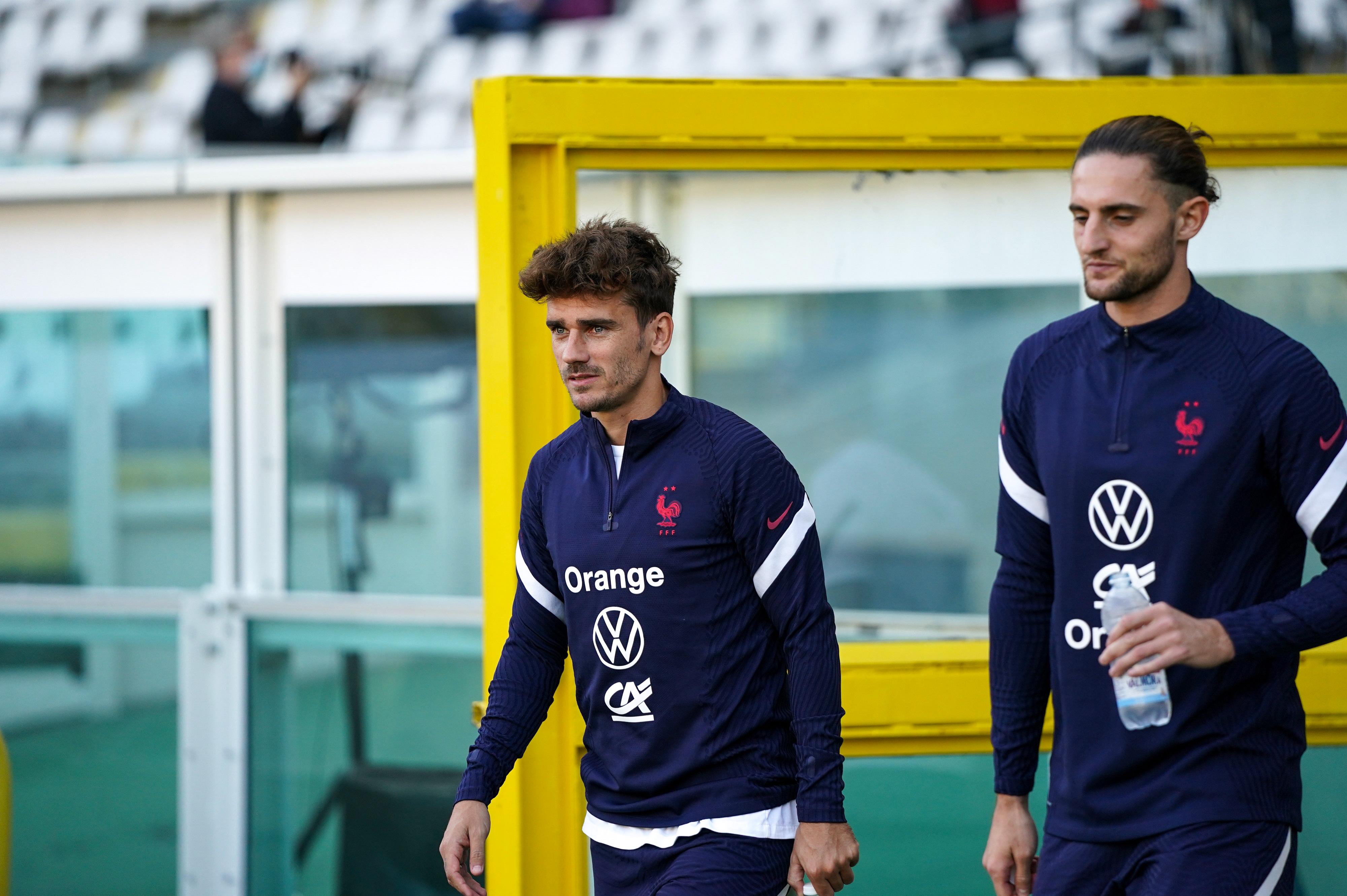 Antoine Griezmann et Adrien Rabiot