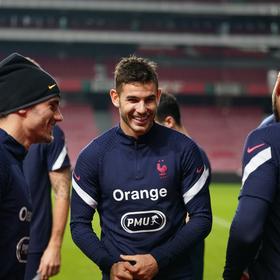 Lucas Hernandez sourire entraînement veille de Portugal France 2020