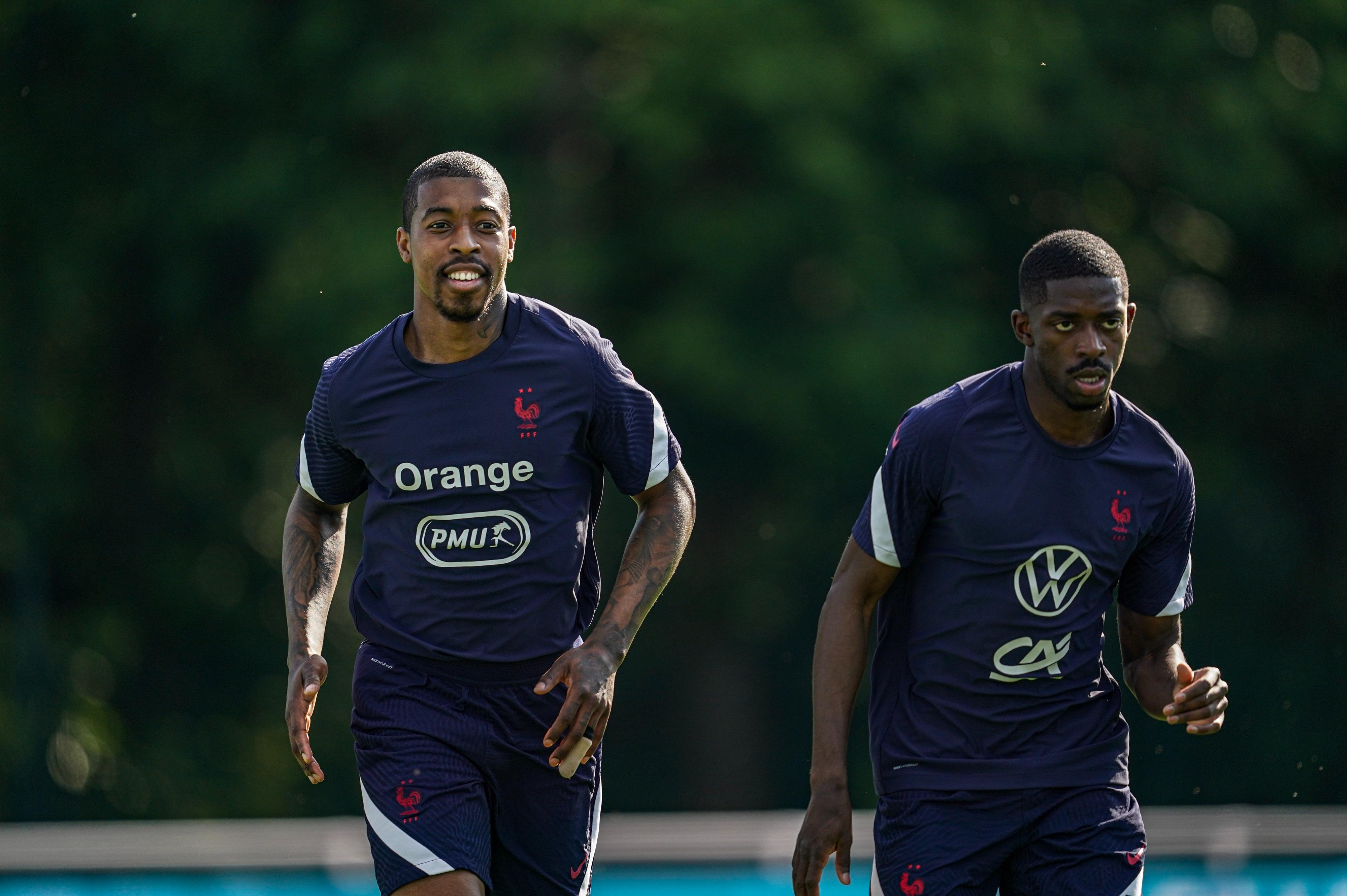 Presnel Kimpembe et Ousmane Dembélé