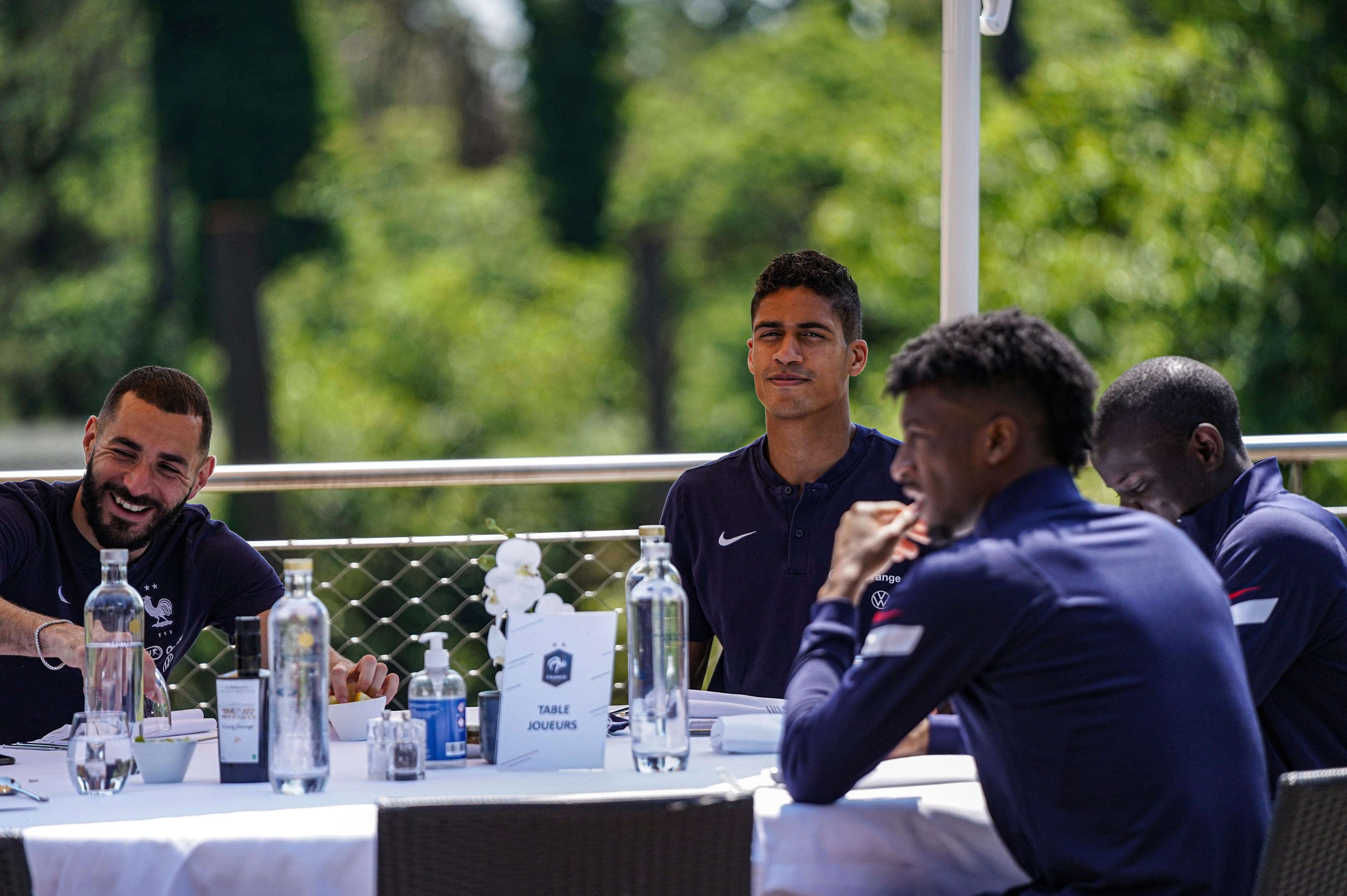 Karim Benzema, Raphaël Varane, N'Golo Kanté et Kingsley Coman