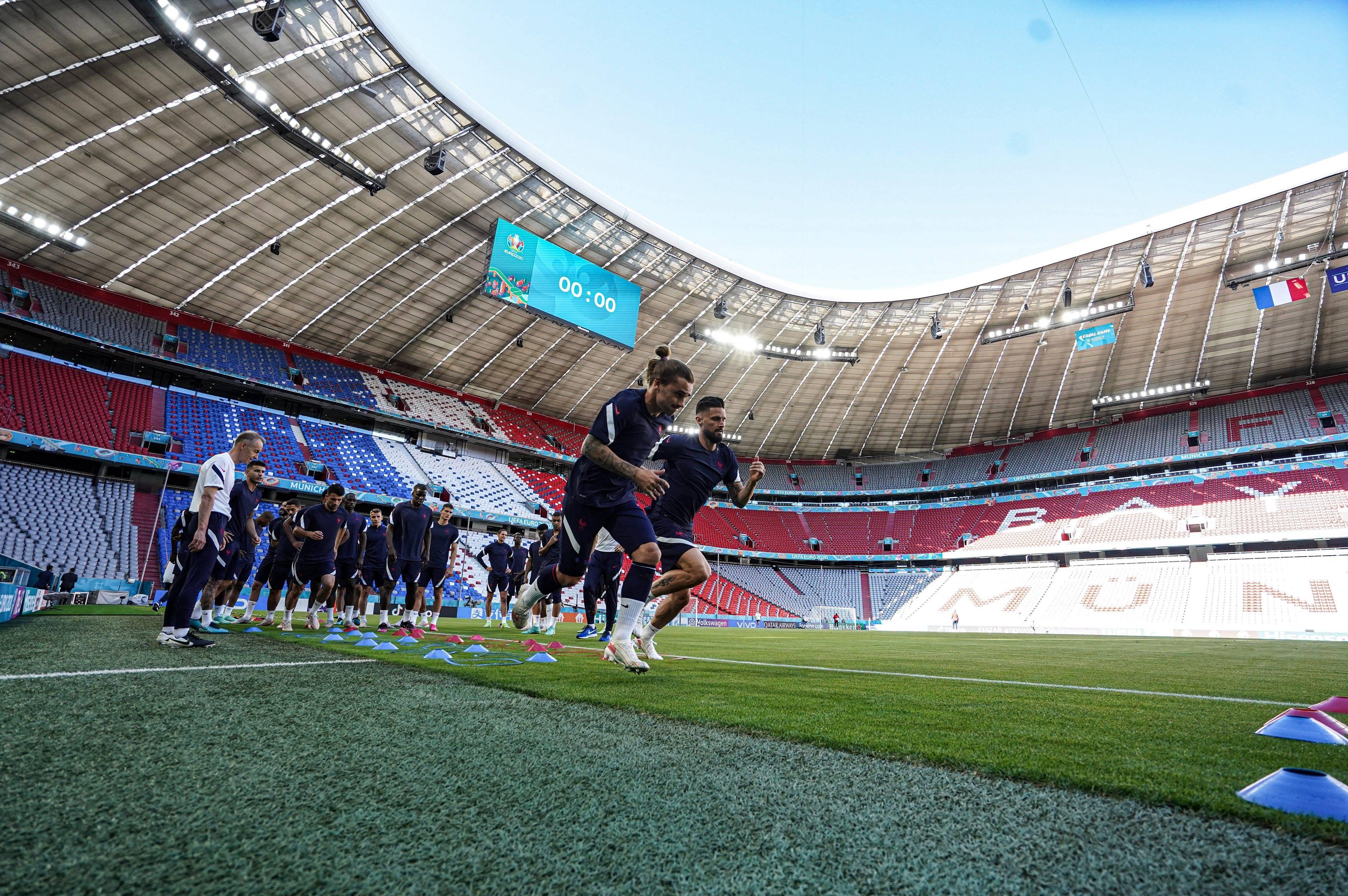 Griezmann entraînement veille de match France-Allemagne